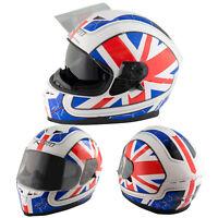 Motorbike Full Face Helmet Motorcycle Scooter Inner Sun Visor England M