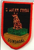 Dog On The Tucker Box NSW Australia Badge Patch Sew On Souvenir 5 Mile Gundagai