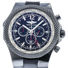 Breitling Bentley GMT Midnight Carbon Black Steel Mens Watch Box/Papers M47362