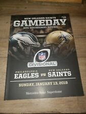 2019 Playoff New Orleans SAINTS v Philadelphia Eagles GAMEDAY PROGRAM