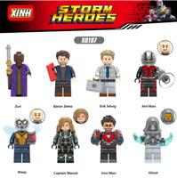 Bausteine Figur Superhero Krieg ANT-Men Modell Spielzeug Marvel's Avengers 8PCS