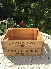 Vintage Style Design  Wooden Moët & Chandon Champagne Wine Crate Box Storage