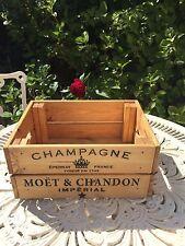 Vintage Wooden Moët & Chandon Champagne Wine Crate Box Storage Shabby Chic Retro