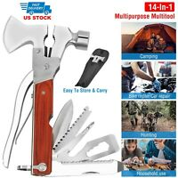 Outdoor Camping Hiking Survival Hammer Emergency Gear Tools Kit Set Self Help