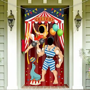 Carnival Circus Party Decoration Door Photo Prop Banner Giant Fabric Decorations