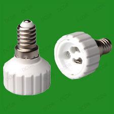 40x Small Screw SES E14 To GU10 Light Bulb Adaptor Lamp Socket Converter Holder