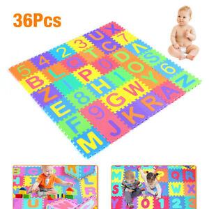 36 tlg Puzzlematte Kinderteppich Spielteppich Schaumstoffmatte Spielmatte Matte