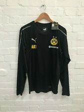 Borussia Dortmund Puma Men's LS Training Shirt - M - Black - New with Defects