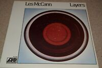 LES McCANN LAYERS VINYL LP ALBUM 1974 ex/vg++ SIGNED BY LES MCCANN and BUCK CLAR
