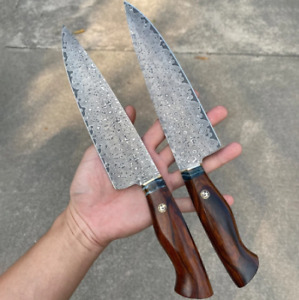 Hand Made Professional Kitchen Knife Damascus Steel  Cleaver Cuisine Knives Tool