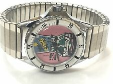 RARE Vtg 1980s M/windup Gitano Moon Drive Safari  Watch Very Elegant (GITANO-EJ)