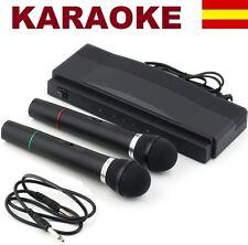 2X Microfono con sistema profesional inalambrico receptor WIRELESS Micrófono