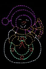 Snow Lady Metal Wire frame LED light outdoor yard Christmas Display