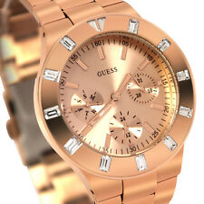 LATEST GUESS Women's U13013L1 Feminine Hi-Shine Rose Gold-Tone Mid-Size Watch