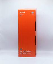 Sony 200-600 mm 5.6-6.3 FE G OSS (sel200600g) blanc Objectivement Nouveau neuf dans sa boîte