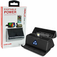 ORIGINAL iWALK 5200mAh MFI Lightning Base de carga para iPhone 8/7/6/6s /