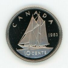 1983 Canada 10-Cents Proof Dime from Mint Set UHCameo