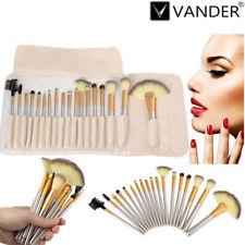 Cosmetic 18Pcs Champagne Vander Pro Eyebrow Shadow Soft Makeup Brush Set Kit+Bag