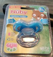 Nuby Soothing Teether Extra Soft Silicone Gentle Massage 3+ Months BPA Free