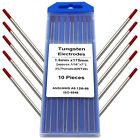 TIG Welding Tungsten Electrodes 1/16' x 7' 10-pk 2% Thoriated Red REBOOT Welder