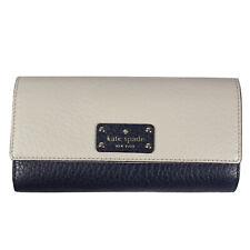 Kate Spade Cream and Navy Sandra Bay Street Leather Wallet WLRU2641 | NWT