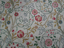 William Morris Curtain Fabric 'Mary Isobel' 1.4 METRES Pink/Ivory 100% Linen
