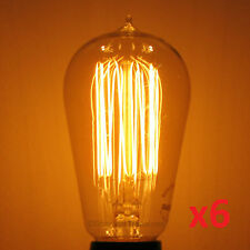 6-Pack Nostalgic 60w Edison MARCONI Squirrel Cage Antique Light Bulbs S19 60WATT