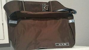 Ju-Ju-Be Classic Collection Better Be Messenger Diaper Bag, Brown/Light blue