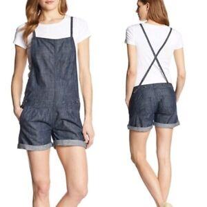 WRANGLER 3 4 NWT Mae Denim Overalls Shortalls Shorts Romper Jeans Jumpsuit S