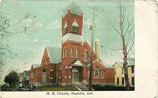 M.E. CHURCH, DUNKIRK, INDIANA, VINTAGE POSTCARD