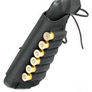 Shotgun Shell Holder Retro Hunting 6 Pockets Cartridge Ammo Leather 12/16 GA New