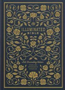 ESV Illuminated Bible, Art Journaling Edition [Cloth over Board, Navy]