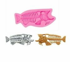 Fish Bone Shape Silicone Mould Chocolate Cake Biscuit Epoxy Resin Craft Mold
