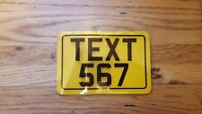 6x4 Motorcycle Novelty Plate 6x4 Text plate