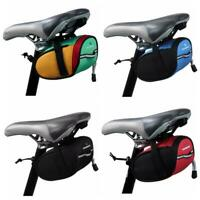 Cool Bike Saddle Bag Bicycle Under Seat Storage Outdoor Rear Tail Pouch Package