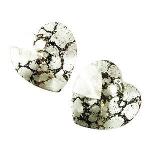 Swarovski : Heart 10mm : Crystal Black Patina per pair