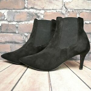 Womens New Look Black High Heel Chelsea Style Ankle Boots Size UK 5 EUR 38