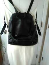 PERLINA New York Small Black Soft Leather BACKPACK
