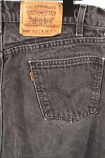 Vtg. Levis 505 Orange Tab Black Regular Fit Straight Leg 34 x 30 100% Cotton USA