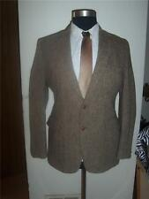 Harris Tweed Brown  ,Herringbone,Scottish Wool , Blazer ,Two Button,Men Sz 42 R