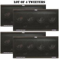 Lot of 4 Pyle PLTWVS 6-Way Sunvisor Flush Mount 200 Watt Tweeters System