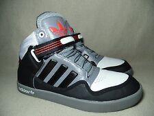 ADIDAS ADIRISE 2.0 White Black/Grey Leather Trainers UK 7/ EU Size 40.5