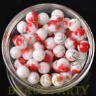 New 20pcs 10mm Round Loose Spacer Glass Beads Bulk Jewelry Making Red