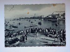 BARI Lungomare circolo canottieri barison animata vecchia cartolina