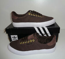 Adidas New Mens Skateboard 3mc Trainers Brown Lace Up Shoes RRP £65.00 UK Size 7