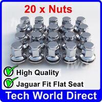 20x ALLOY WHEEL NUTS JAGUAR (M12X1.5) OE-FIT CHROME LUG BOLT STUD QUALITY [20L]