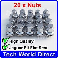 20x ALLOY WHEEL NUTS JAGUAR S-TYPE / X-TYPE CHROME LUG BOLT STUD QUALITY [20L]