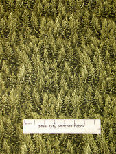 Pine Tree Forest Green Fabric ~ Cotton By The Yard ~ Timeless Treasures C2587