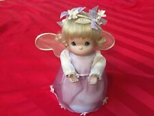 Precious moments Angel doll. Porcelain With Display Stand