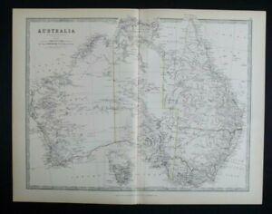 Antique Map: Australia & Tasmania by Alexander Keith Johnston, 1884